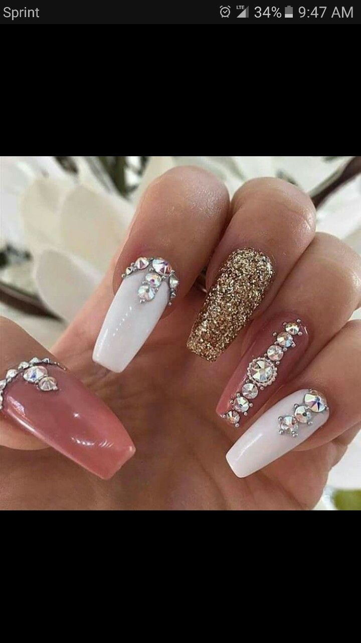 25+ beautiful Rhinestone nails ideas on Pinterest | Nails ...