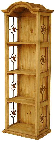 Narrow Bonnet Bookcase w/Stars. I like for DVDs and video games