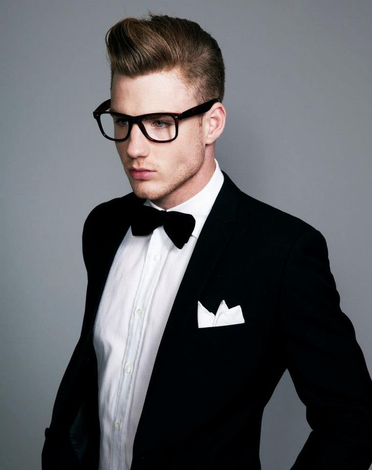 Thomas Davenport #specs #tuxedo #hair