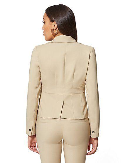 65a488c4f1ba 7th Avenue - Tan Two-Button Blazer -All-Season Stretch - New York & Company