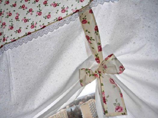 Záclona Římská roleta s růžemi