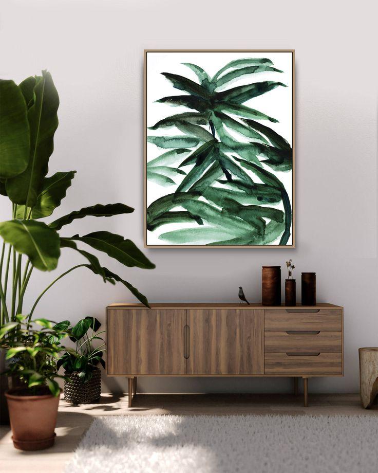 Printable Abstract Art, Botanical Wall Art, Tropical Poster, Palm Print, Botanical Prints, Tropical Art, Boho art, Tropical Wall Art by DanHobdayArt on Etsy