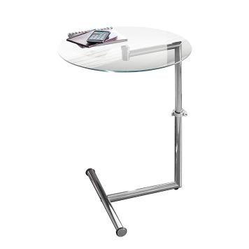 Beistelltisch - Glas/Metall - Silber