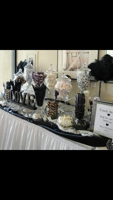 Confettata wedding Black white love