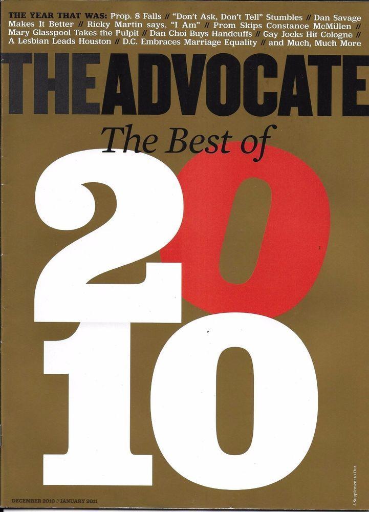 The Advocate magazine Best of the year Paris Pickard Steven Antin Ryan Kwanten