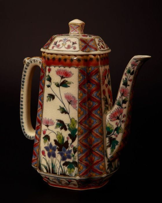 Zsolnay Tea Can with Persian Decoration