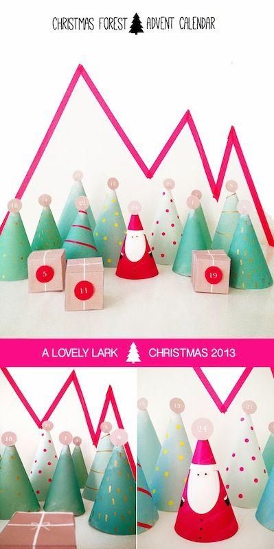 A Lovely Lark christmas advent calendar with free printable