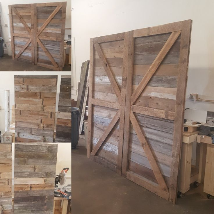 BARN WOOD!!! OUR LATEST CUSTOM SLIDING BARN DOORS!!! Pretty! - 2060 Best Images About Barn Wood On Pinterest Mantels, Mantles