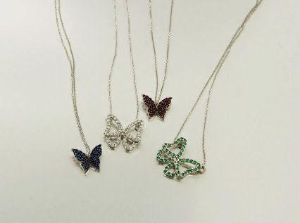 Vola farfalla gioielli in oro bianco 18kt