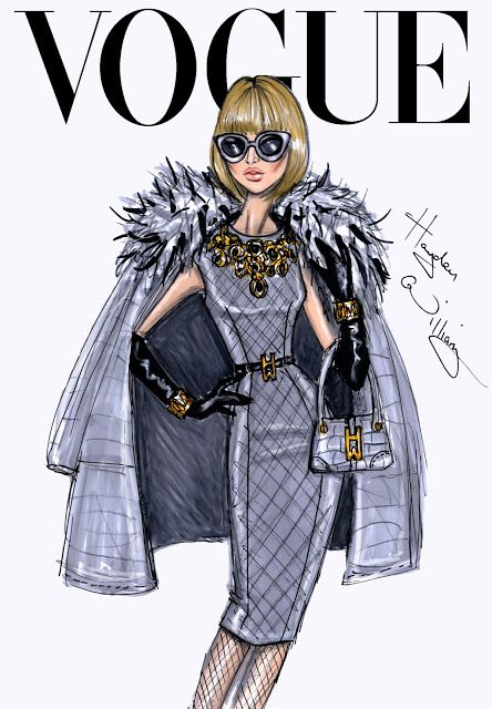 #Hayden Williams Fashion Illustrations #The September Issue: Anna Wintour by Hayden Williams.