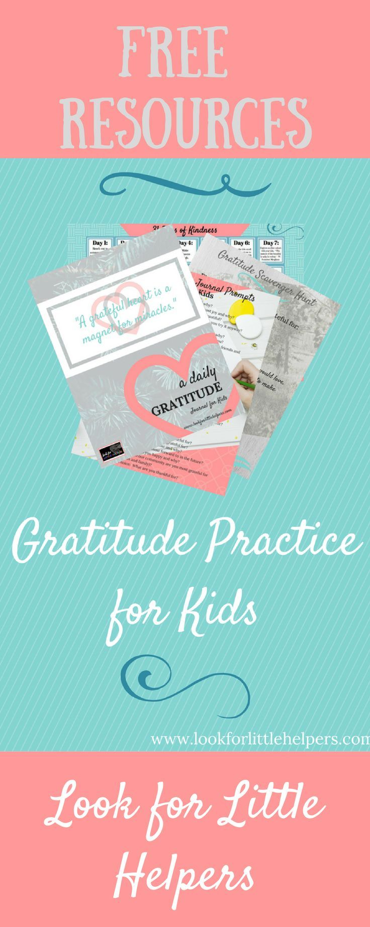 FREE printable activities to teach kids to be grateful, FREE printable random acts of kindness calendar, and FREE printable thank you cards for kids!  #kindness, #gratitude, #randomactsofkindness, #kindnesscounts
