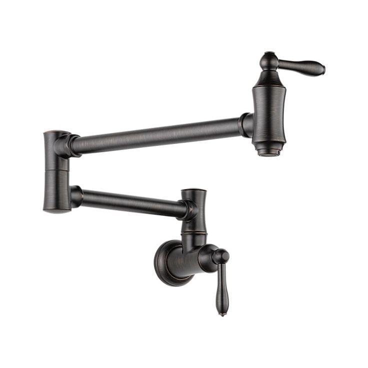 -OPTIONAL POT FILLER-1177LF-RB Traditional Wall Mount Pot Filler Faucet - Traditional : Kitchen Products : Delta Faucet