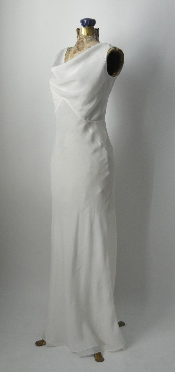 20% OFF Vintage 1930s Style Gown Art Deco Style Gown by SLVintage