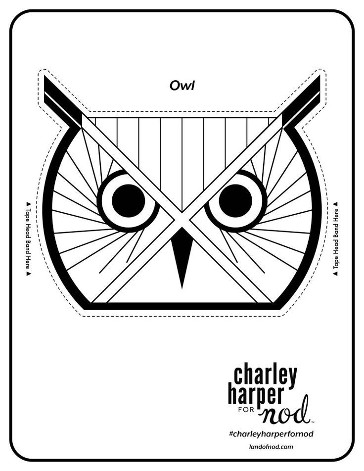 charley harper printable animal paper crowns on honest to nod - Charley Harper Coloring Book
