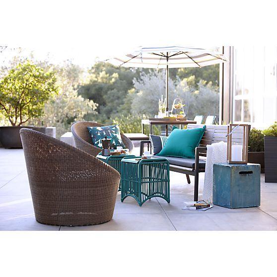 Calypso Mocha Swivel Lounge Chair With Sunbrella® Stone Cushion In Rocha |  Crate And Barrel