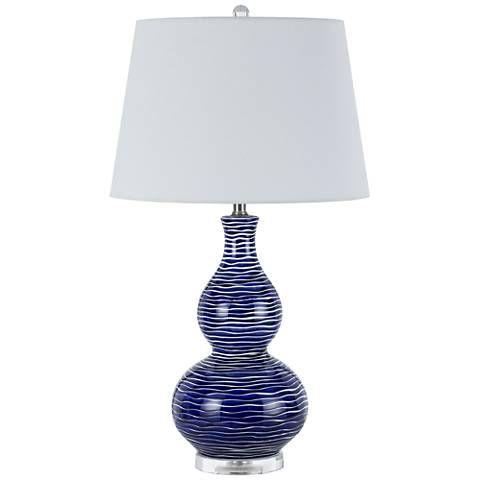Payson Ocean Blue Ceramic Table Lamp Set of 2 - #23F12   Lamps Plus