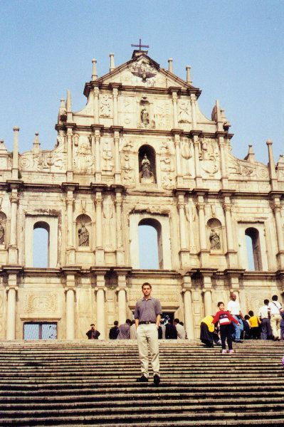 The church of Sao Paulo with its ornatley-carved facade, rich with Catholic statuary is the most famous landmark in MACAU (Special Administrative Region) CHINA   (Photo - LukeTravels.com - Luke Handzlik)