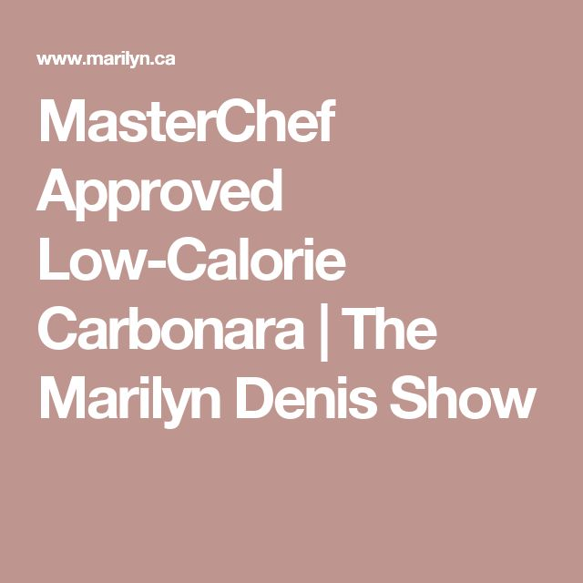 MasterChef Approved Low-Calorie Carbonara  | The Marilyn Denis Show