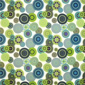 Mandala Grön digitaltryck Tyg