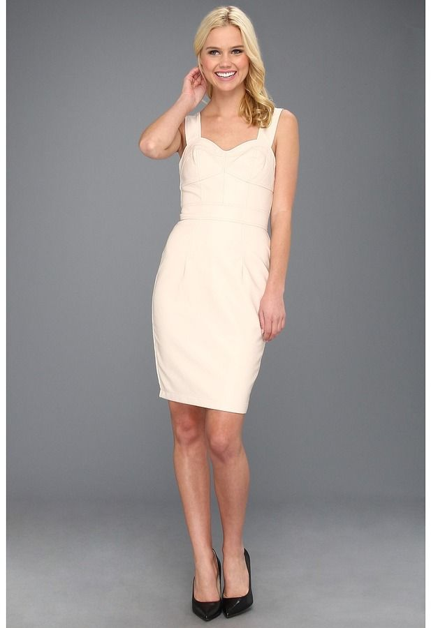 French Connection - Pleather Dress 71RS9 (Cream) - Apparel