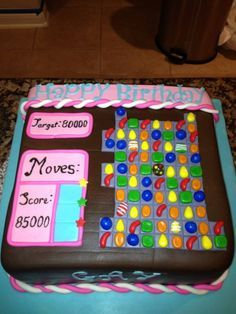 Candy crush cake should make for my mom because she is addicted to this game