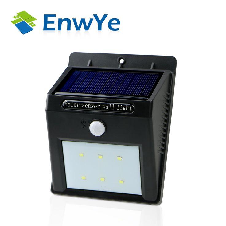 EnwYe LED Solar Power PIR Motion Sensor Wall Light En Plein Air Étanche Rue Économie D'énergie Yard Chemin Jardin Lampe De Sécurité