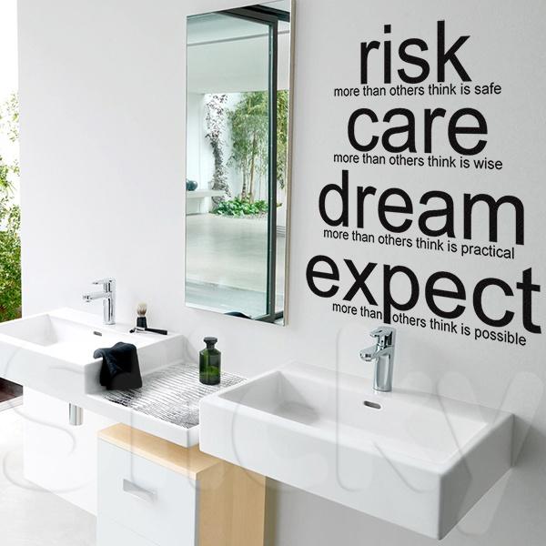 Wall Sticker RISK CARE by Sticky!!!