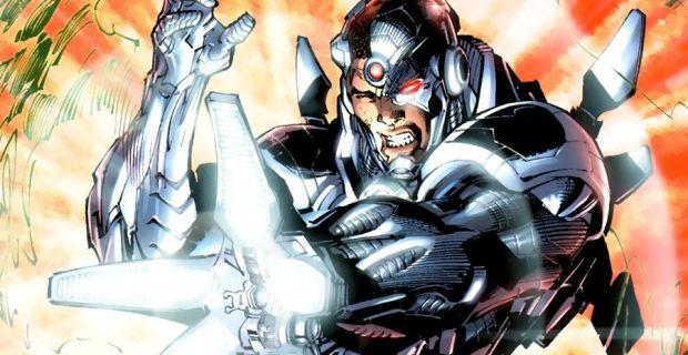 Cyborg in battle mode