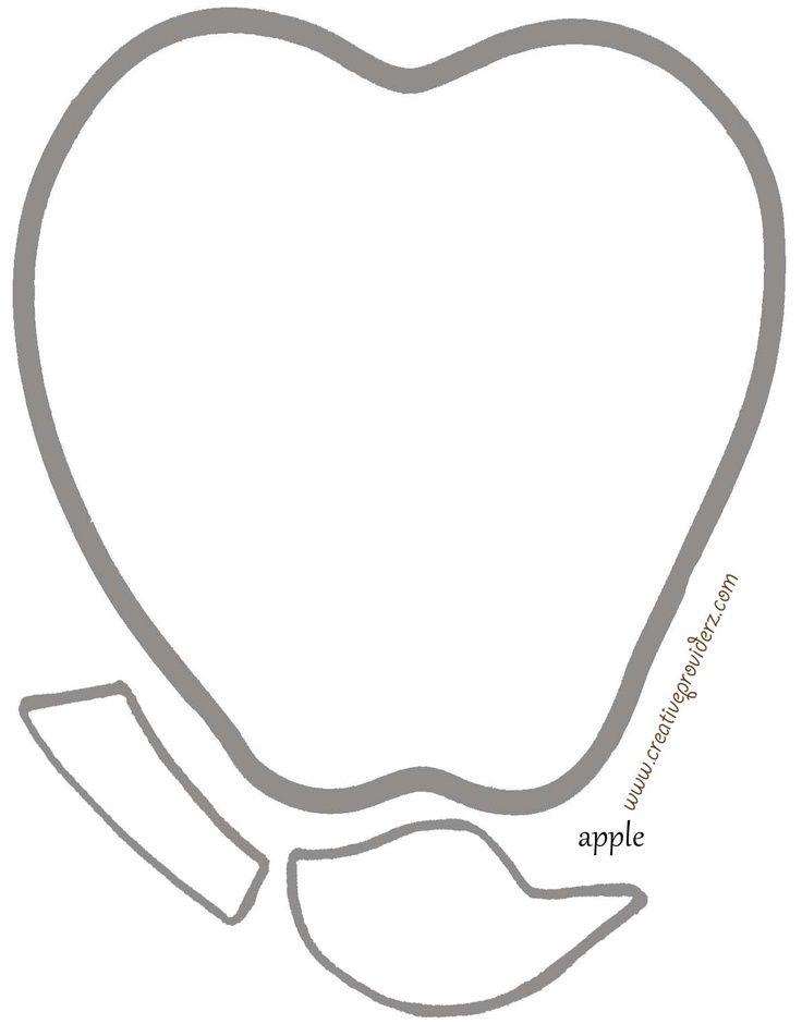 Apple Stem and Leaf Template