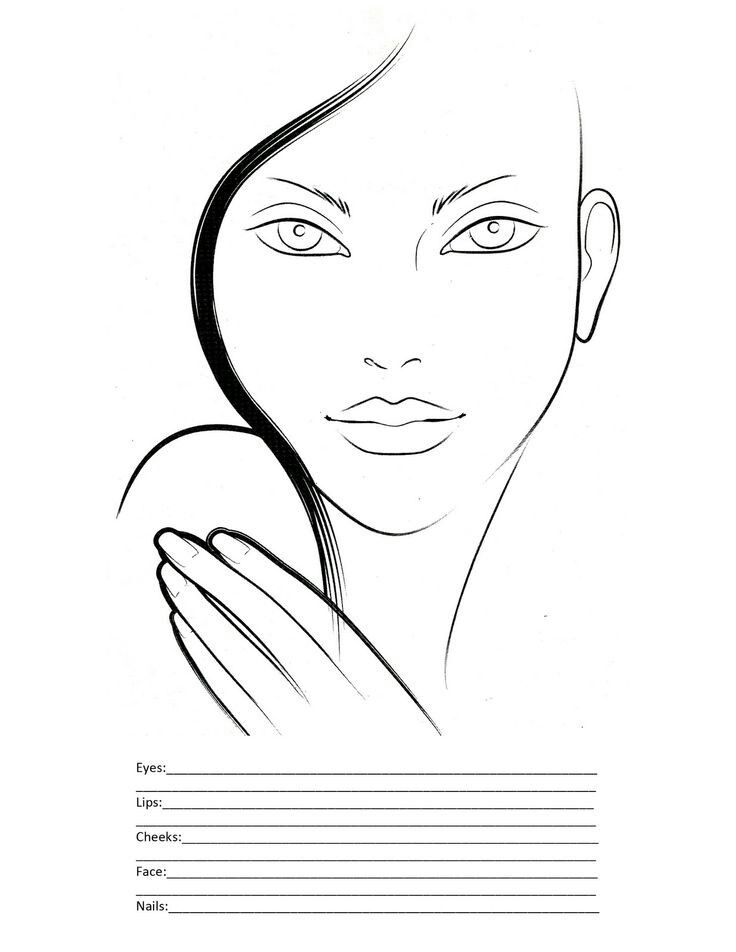 50 best BLANK FACE CHARTS images on Pinterest Faces, Makeup face - blank face template printable