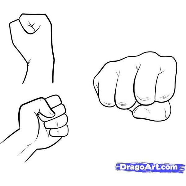 How to draw a cartoon fist