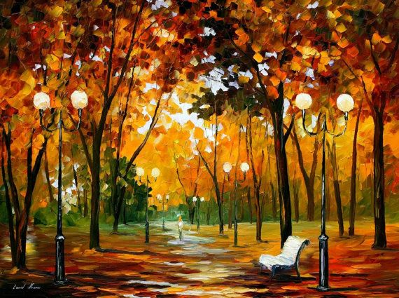 Dance of the wind  PALETTE KNIFE Oil Painting by AfremovArtGallery