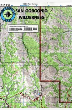 Located in the San Bernardino National Forest in Southern California, the San Gorgonio Wilderness is one of the most popular with hikers and day hikes of the region. This map is probably the only guide you will need for a day or overnight trip.