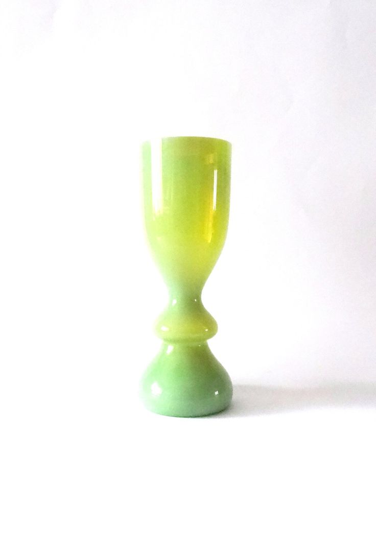Zbigniew Horbowy 1970s lime and opalescent 'antico' art glass vase -- Polish art glass -- Poland by CzechGlassCollector on Etsy https://www.etsy.com/listing/207599683/zbigniew-horbowy-1970s-lime-and