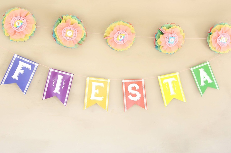 Hndmade banners and garlands for a very special birthday girl