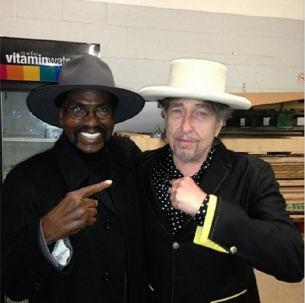 Bob Dylan and Rubin Hurricane Carter, together for the last time, 2013