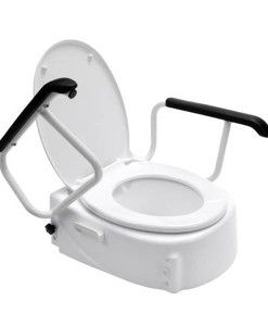 Raised Toilet Seat - Swing Back Arms