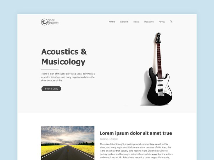 Geek Gazette Homepage by Vivek Singh
