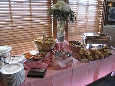 buffet table set-up / party food calculator
