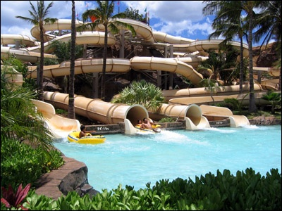 Wet n' Wild Hawaii Water Park... something to do on our 6 hour layover in Honolulu?