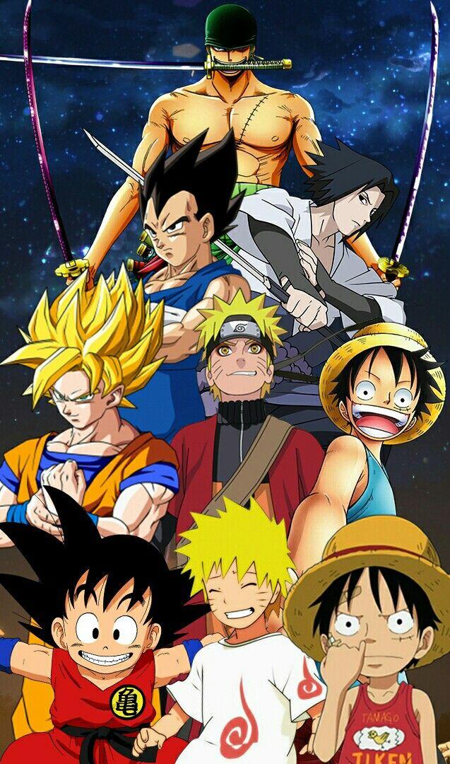 Goku Vegeta Luffy Zoro Naruto E Sasuke