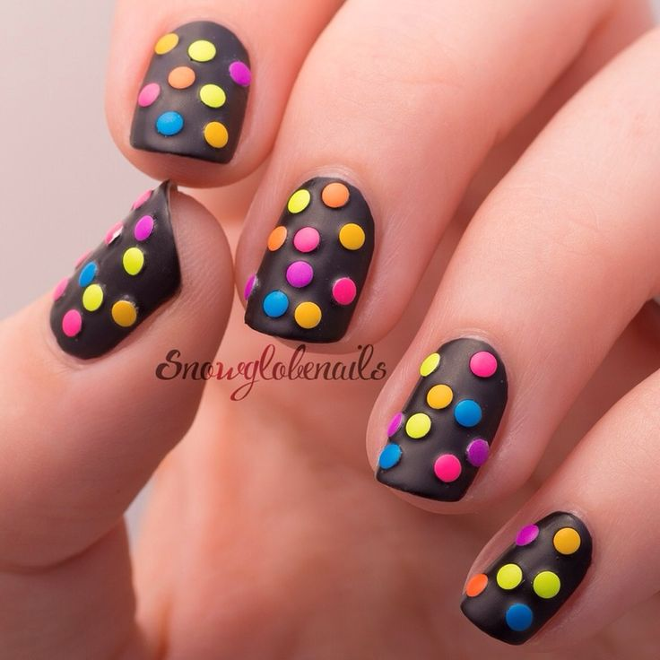 The 25 best funky nail designs ideas on pinterest funky nails neon dots nail art prinsesfo Choice Image