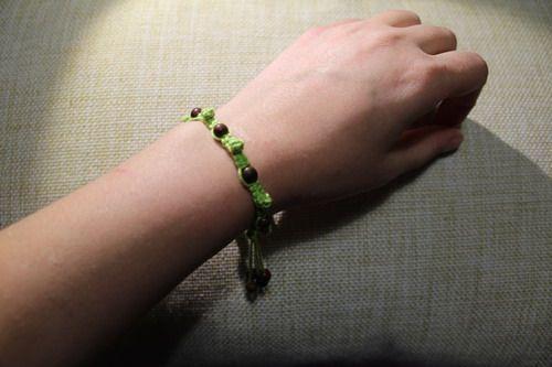 детский браслет с бусинами (21)