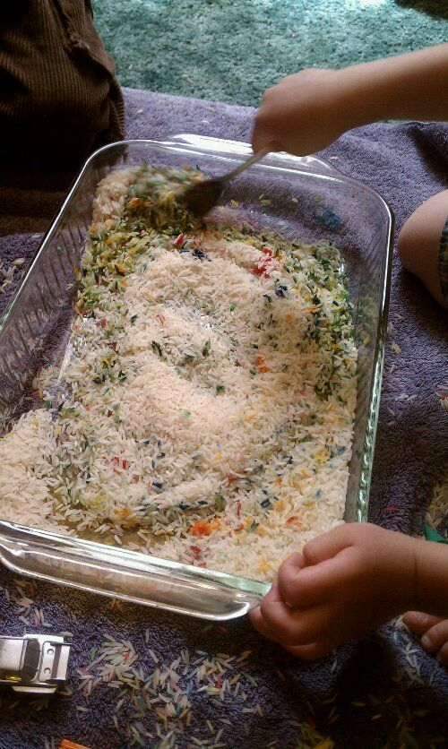 Rainbow rice....what what!