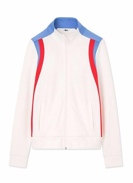 Tory Sport Color-Block Track Jacket