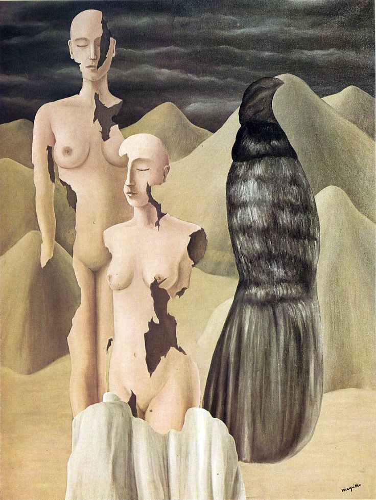 Homage to Mack Sennett, 1934 by Rene Magritte, Brussels pre-war and war years. Surrealism. symbolic painting