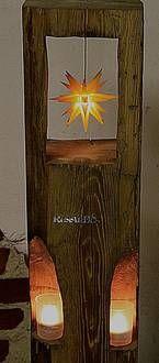Windlicht mit Original Herrnhuter Stern