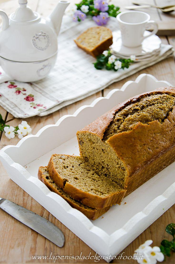 BANANA BREAD NOCI E CAFFE'-ricetta con foto passo a passo soffice, facile e leggero senza burro