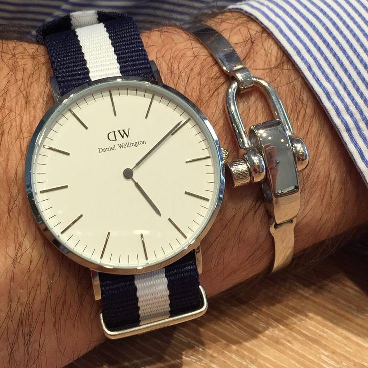 Screw silver bracelet  Daniel Wellington watch Bracciale a vite in argento 925  Orologio Daniel Wellington