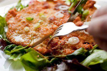 Crisp Chicken Schnitzel With Lemony Herb Salad